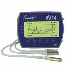 Supco Data View DVT4 4-Channel Data Logger w/ Display, PC Software & USB Cable