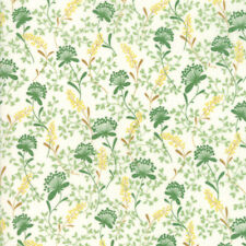 Moda Fabric Wildflowers IX Vines Floral Linen - per 1/4 Metre