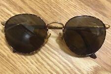 ab28fdb580 Brooks Brothers B.B. 101-S Gold Tortoise Large Round Eyeglasses Frame  52▫️20 140