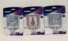 Lot Of 3 Energizer Christmas Night Light LED Sensor Automatic Nightlight New