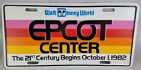 Walt Disney World Epcot Center October 1 1982 License Plate Vehicle NM Condition
