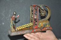 Vintage Wind Up C.K Trademark Litho Player Playing Foot Ball Tin Toy, Japan