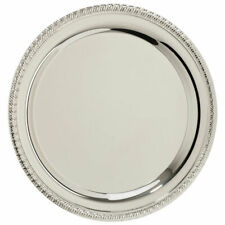 """12"""" (30cm) Silver Plated Salver with rope edge design - New"""