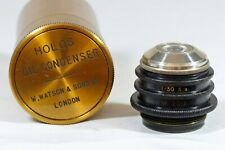 Antique Watson Microscope Holos Oil Immersion Condenser