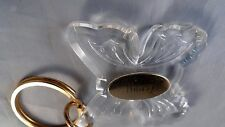 CLEAR PLASTIC Key Chain BUTTERFLY with Gold Name Plate NANCY Shipping Included.