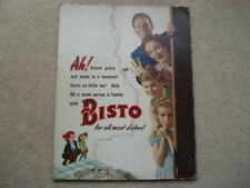 More details for c1948-53 vintage ah! bisto for all meat dished advertising showcard