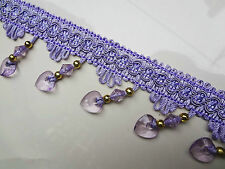 1M DIY Curtain Cord Colorful Beaded Fringe/Trim Sewing/Costume/Crafts/Corsetry