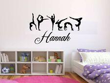 Personalised Kids Ballerina Dancers Pack Wall Art Sticker, Bedroom Decor