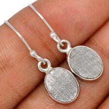 Muonionalusta Meteorite Sweden 925 Sterling Silver Earrings Jewelry BE61463