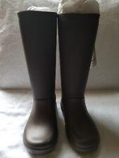 crocs Womens Rain Floe Tall Boot-size 5US brown