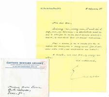 BERNARD PRIVAT / ECRIVAIN (PRIX FEMINA 1959) ET EDITEUR (GRASSET)