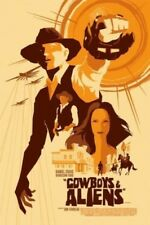 Mondo Cowboys & Aliens Poster Print by Tom Whalen SOLD OUT