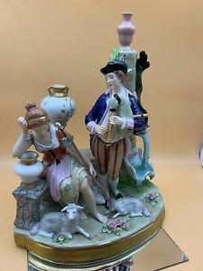 Sitzendorf Figure Porcelain Figurine 12 3/16in Top Condition