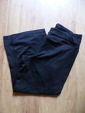 Women's Layer 8 Performance Quick Dry Workout /Yoga Black Capri Pants Size S