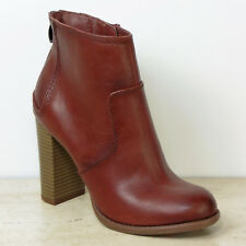 New M&S LTD EDITION High Heel ANKLE BOOTS ~ Size 5 ~ TAN Faux Leather