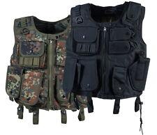 Taktische Einsatzweste mit Holster SWAT Schwarz & BW-Flecktarn M L XL XXL