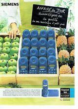 Publicité Advertising 037  2000   Siemens  téléphone sans fil Gigaset 100