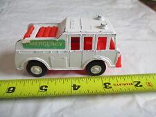 Vintage tootsie toy die cast white recue emergency vehicle red interior fun roll