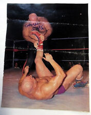 GEORGE The Animal STEELE Autographed Magazine CLIPPING WWF Wrestler Actor PC910