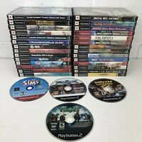 HUGE PlayStation 2 PS2 Game Lot of 32 Games Tested & Working