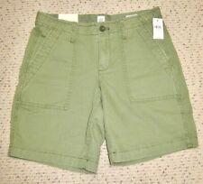 New Gap Chino Girlfriend Green Roll Up Shorts-size 0