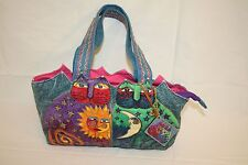Laurel Burch Womens Ladies Cat Sun Moon Handbag Purse Tote Zippered