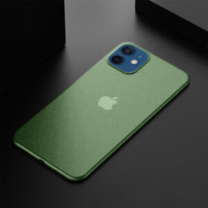 For iPhone 12 Pro Max 11 XS X 8 7 0.2mm Ultra-thin Matte Hard Slim PP Case Cover