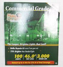 Holiday Bright Lights Commercial Grade - Green - 100 Lights - 46 Feet Long