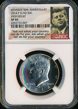 2014-P KENNEDY HALF SP-66 ANA INAUGUAL RELEASE NGC