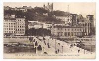 lyon  pont tilsitt,cathédrale saint-jean et coteau de fourvière