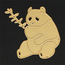 Gold Panda Dies Metal DIY Cutting Stencil For Scrapbooking Paper Cards Decor