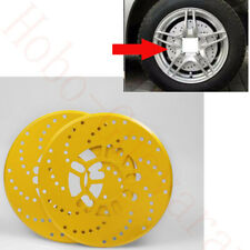 4x Yellow Aluminum Racing Disc Decorative Brake Rotor Cover Drum For Jeep Car