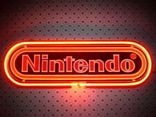 Neon Signs Gift NINTENDO BLACK Beer Bar Pub Store Party Room Wall Decor 19x10