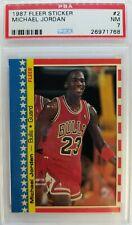 1987 87 Michael Jordan Fleer Sticker #2, Rare Graded PSA 7, 2nd Year Card!