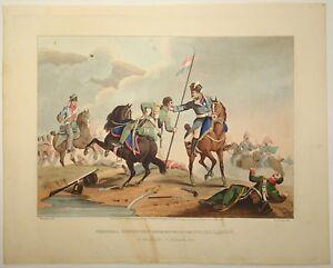 EDWARD ORME Original Color Aquatint Removed Historic Military NAPOLEONIC WARS n