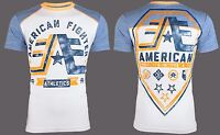 AMERICAN FIGHTER Mens T-Shirt STONY BROOK Athletic WHITE Biker Gym MMA $40
