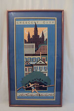 New Orleans Art Crescent City Classic 1986 Vintage (Numbered) 1462/7500 Framed