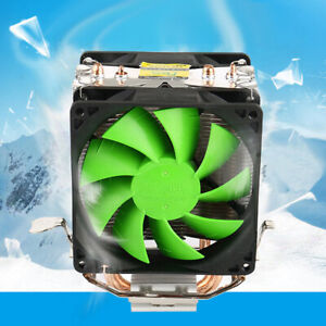 Mute Radiator CPU Cooler Dual Fan For Intel LGA775/1156 AMD AM2+/AM3/AM4 Ryzen