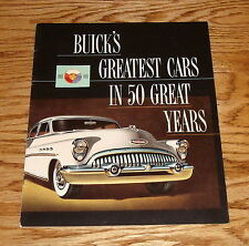 Original 1953 Buick Greatest Cars in 50 Years Sales Brochure 1903-1953 53