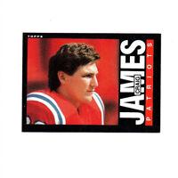 68 count lot 1985 Topps Craig James rookie cards Patriots QB high grade rc lot