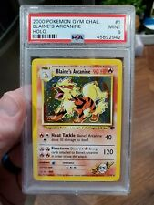 PSA 9 Pokemon Gym Challenge Unlimited Holo Rare Blaine's Arcanine 1/132 MINT!!