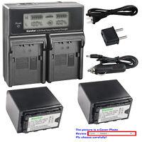 Kastar Battery LCD Dual Fast Charger for VW-VBD78 VW-VBD98 Panasonic AG-CX350