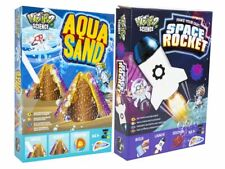 TWO KITS Underwater Aqua Sand & Space Rocket Launcher Science Experiment Sets