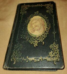 Vintage Black KEY OF HEAVEN Jesus Mary Complete Catholic Prayer BOOK 1961