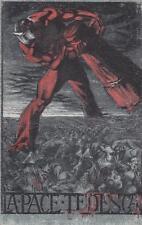 """C3314) WW1 FRANCHIGIA DI CANEVARI """"LA PACE TEDESCA """", SENZA ARMATA. VIAGGIATA."""