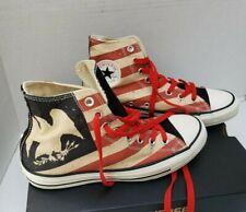New Converse Shoes Sneakers Flag Stripe Eagle American Patriot USA 7 Men 9 Women