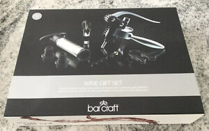 Bar Craft 7 Piece Wine Gift Set, All The Essentials - NEW IN BOX