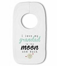 I love my Grandad to the Moon and Back cute - Baby Pullover Bib by BWW Print Ltd