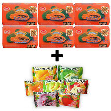 PAPAYA SOAP & HONEY LIGHTENING SOAP 6 x 125g *ASANTEE* + FREE! 1 BAR Harmony