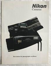 Nikon Cameras  Product Brochure, 1995 Era